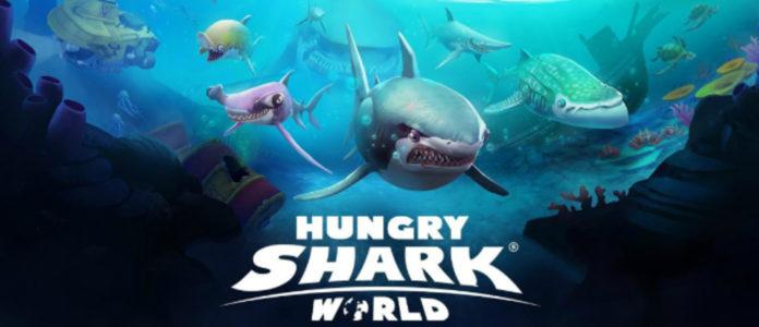 скачать взлом hungry shark world