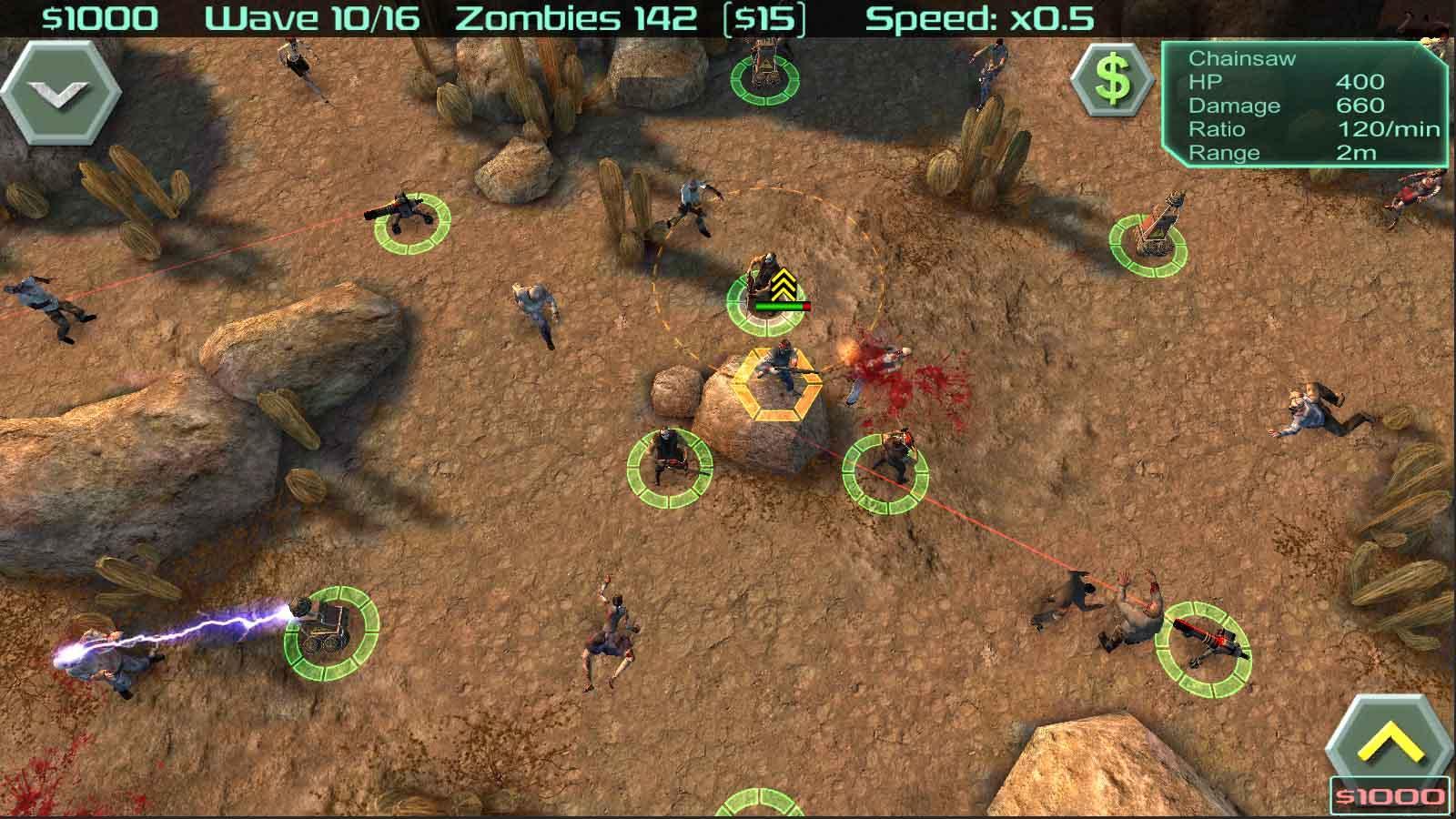idle zombie defense